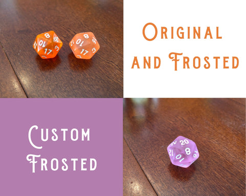 Amazing Custom Dice - Frosted