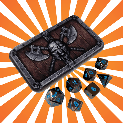 SkullSplitter Metal Dice Set for Dungeons and Dragons