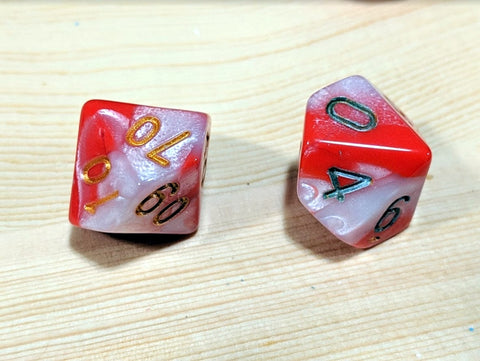 reinking polyhedral dice with paint