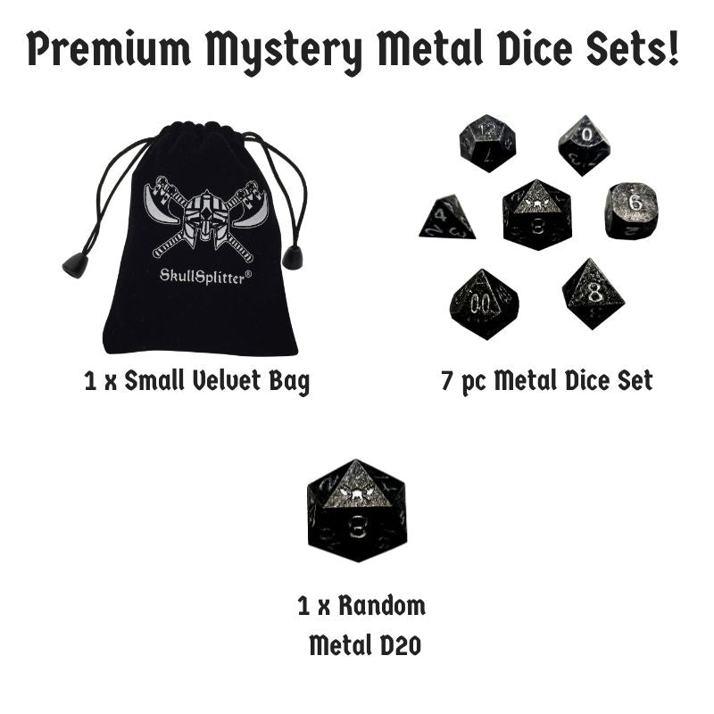 Premium Mystery Metal Dice Set