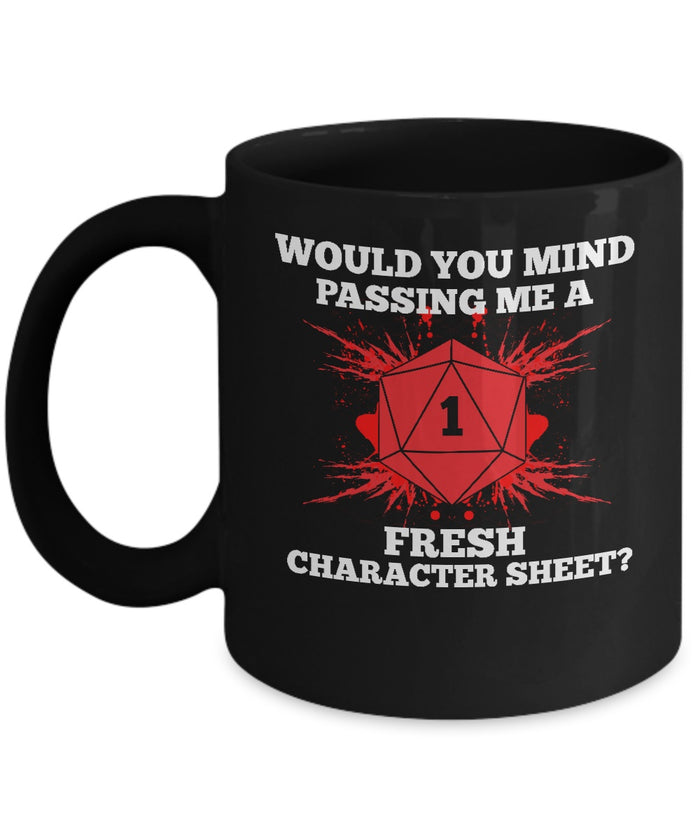 Coffee Mug - Critical Failure Funny RPG Coffee Cup Mug