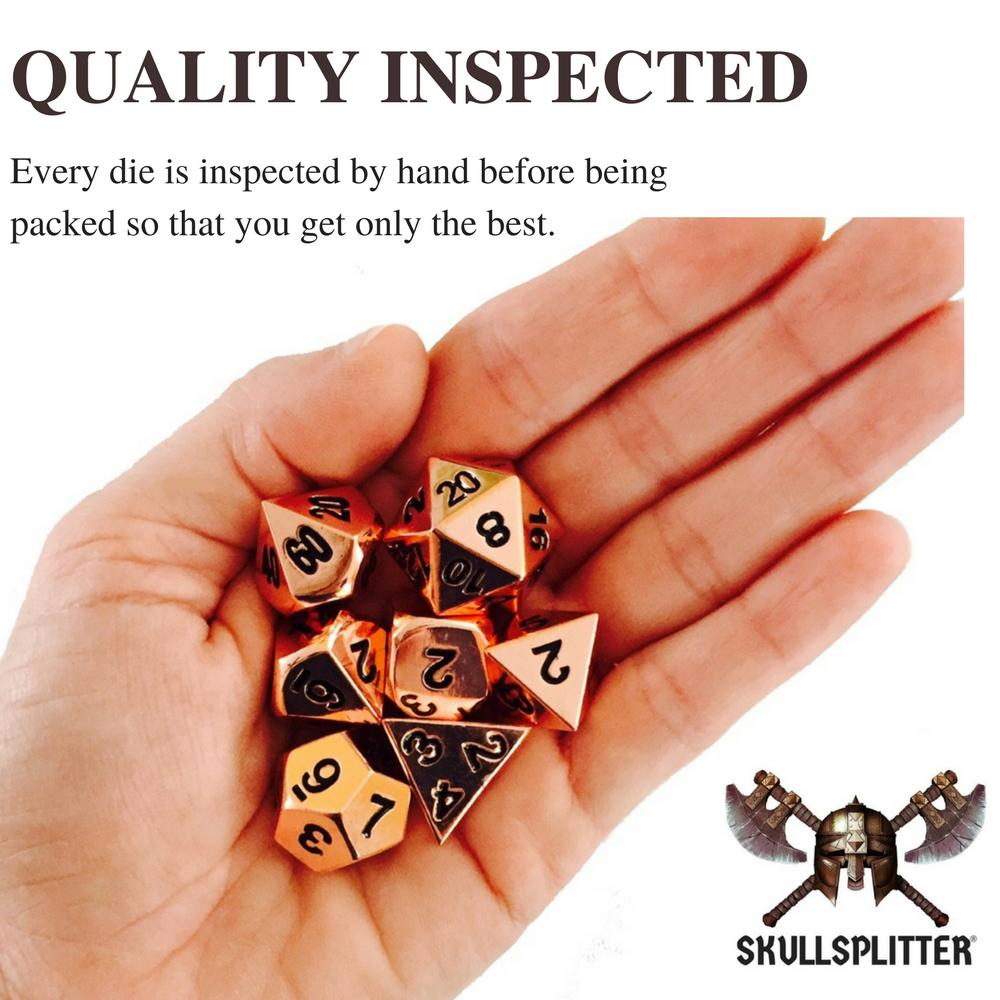Metal Dice - Slinger's Kit With Copper Color With Black Numbering  Metal Dice