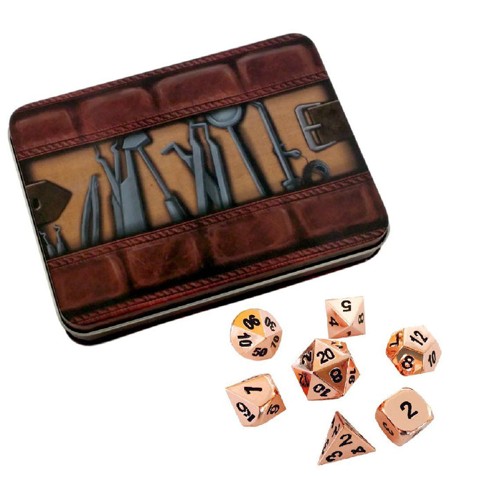 Metal Dice - Thieves' Tools With Copper Color With Black Numbering  Metal Dice