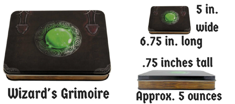 Wizard S Grimoire With Shiny Chrome Silver Color With
