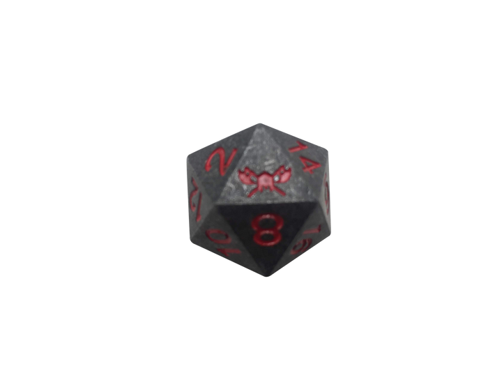 Metal d20 for D&D