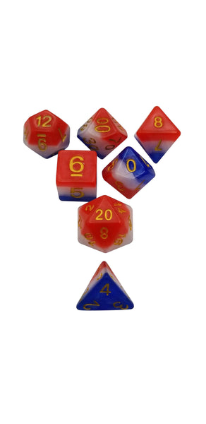 Freedom Dice Red White And Blue Dice Set Of 7