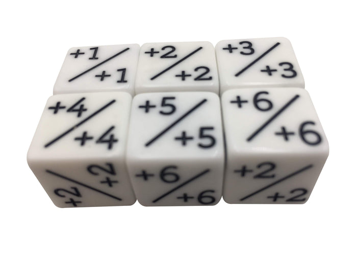 White Plus One (+1)  To Plus Six (+6) Magic The Gathering (MTG) Counters - Six Pack