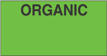 Green Organic Monarch Labels - Monarch 1110 Series