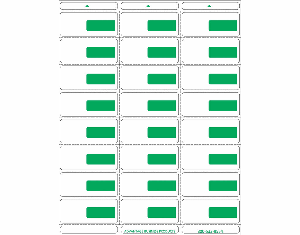 Vinyl - Green 24up Portrait Retail Price Label Sheets