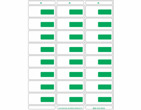 Vinyl - Green 24up Portrait Labels