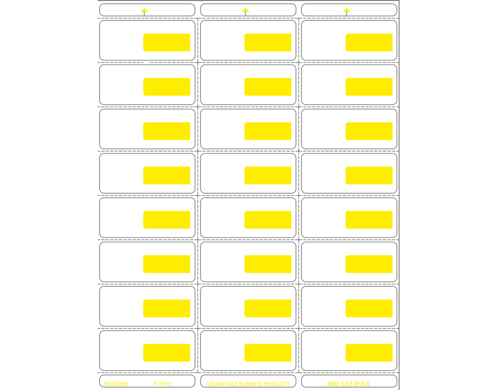 Vinyl - Yellow 24up Portrait Retail Price Label Sheets
