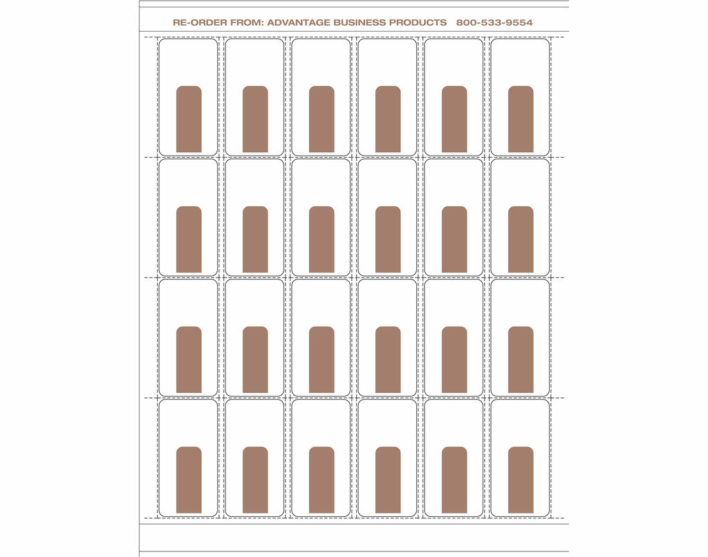 Paper - Brown 24up Landscape Retail Price Label Sheets