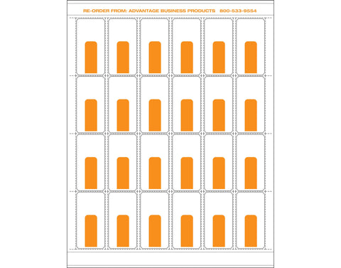 Paper - Orange 24up Landscape Retail Price Label Sheets