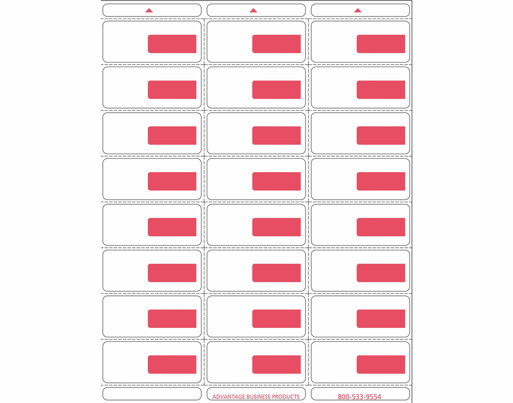 Vinyl - Red 24up Portrait Labels
