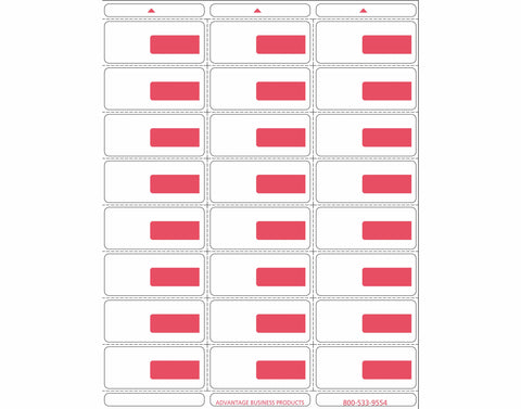 Vinyl - Red 24up Portrait Retail Price Label Sheets