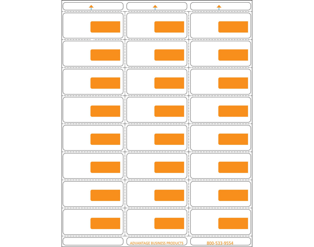 Vinyl - Orange 24up Portrait Retail Price Label Sheets