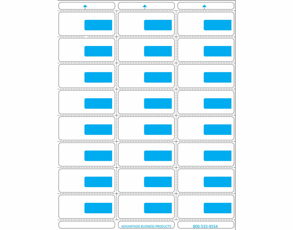 Vinyl - Blue 24up Portrait Labels