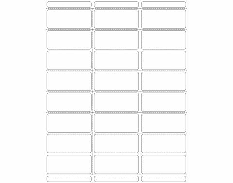 White Blank 24up Vinyl Labels - Portrait