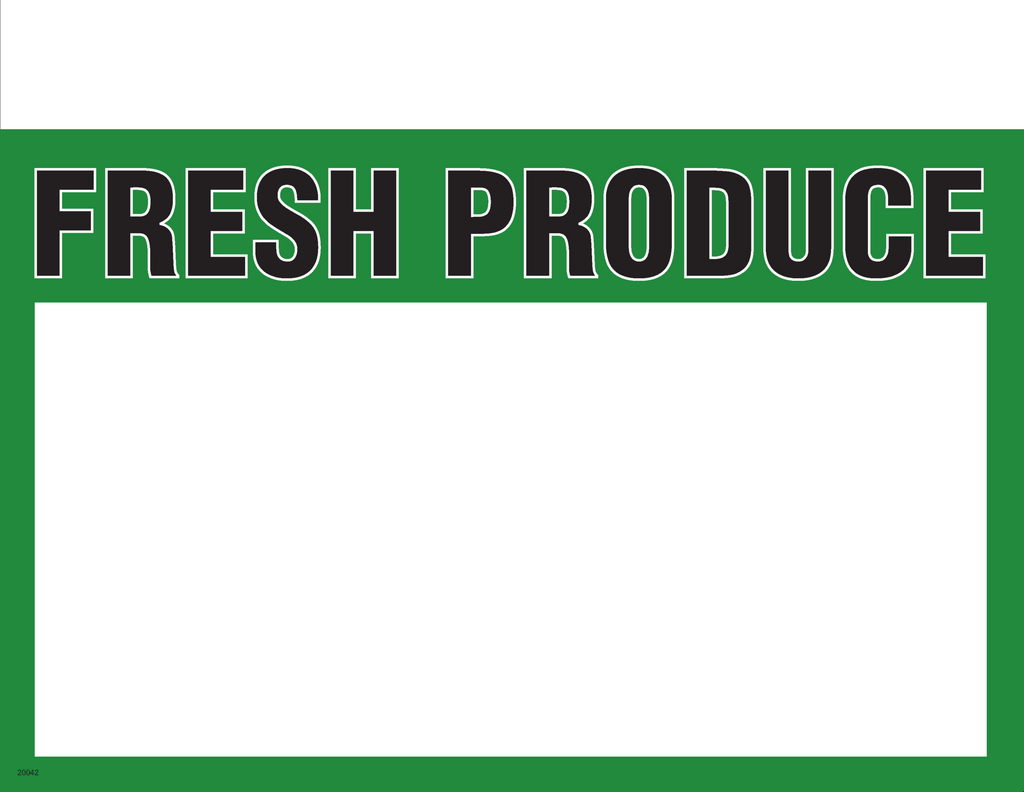 Fresh Produce Shelf Sign - 1up