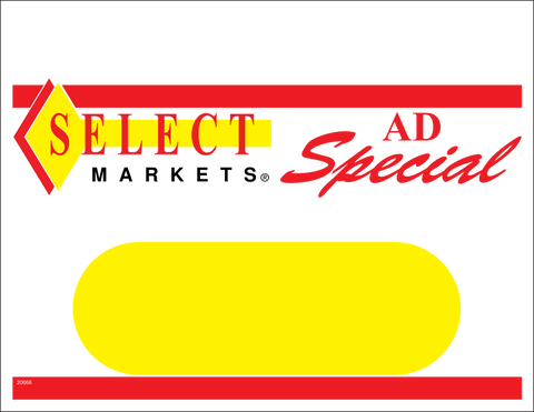 Select Ad Special Sign 1up Shelf Sign - #20666