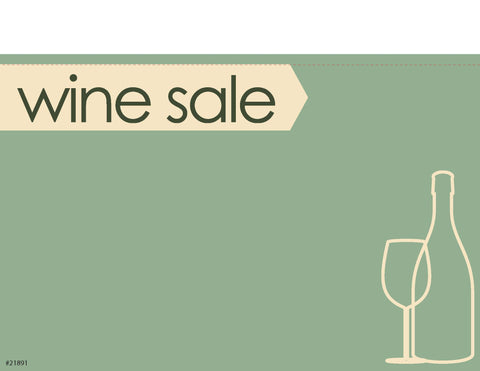 "Wine Sale Sign Card 11"" x 7"" - #21891"