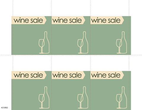 Wine Sale Sign Card 6up - #21892
