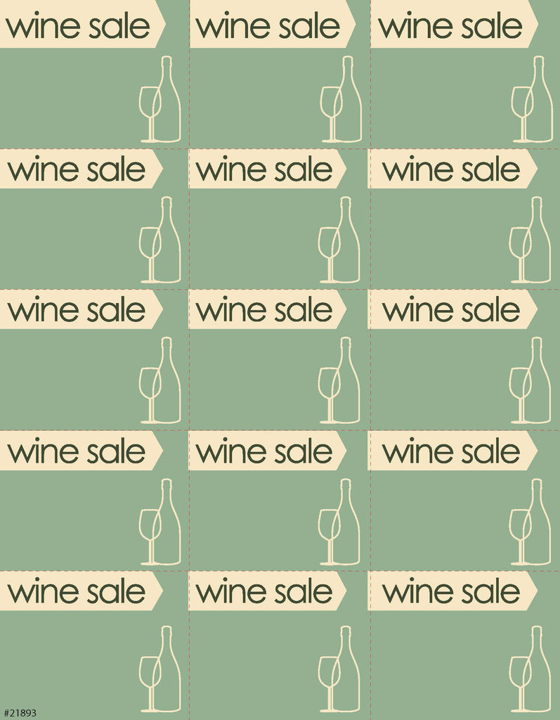 Wine Sale Sign Card 15up - #21893