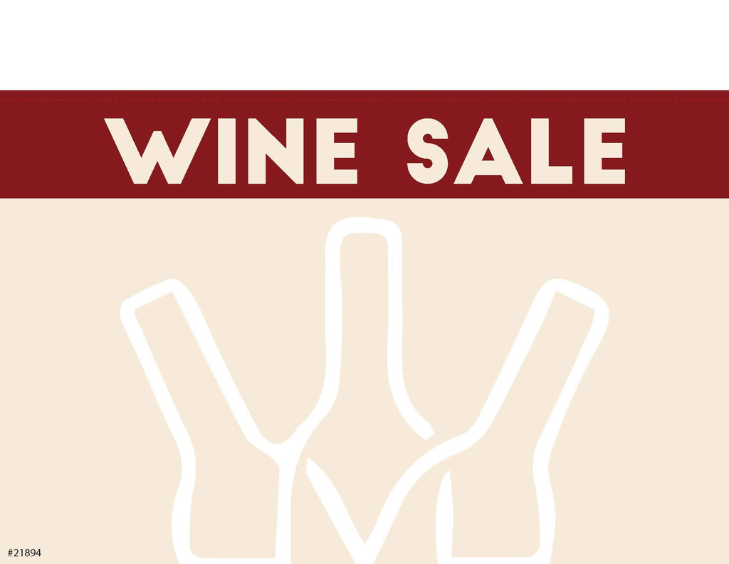 "Wine Sale Sign Card 11"" x 7"" - #21894"