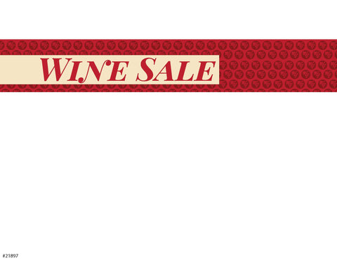 "Wine Sale Sign Card 11"" x 7"" - #21897"