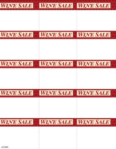 Wine Sale Sign Card 15up - #21899