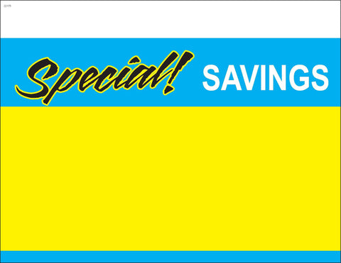 Special Savings Shelf Signs