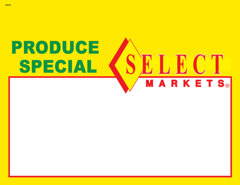 Select Produce Special 1up Shelf Sign - #22176