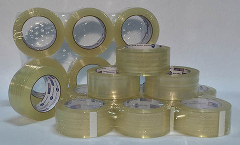 "2"" Wide Clear Tape Rolls - 6 Pack"