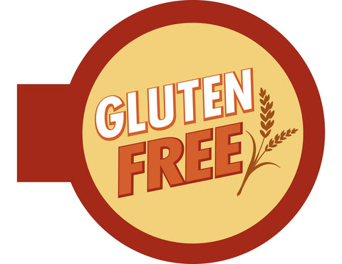 Gluten Free Shelf Talker - Maroon Border