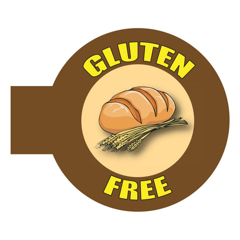 Gluten Free Shelf Talker - Brown Border