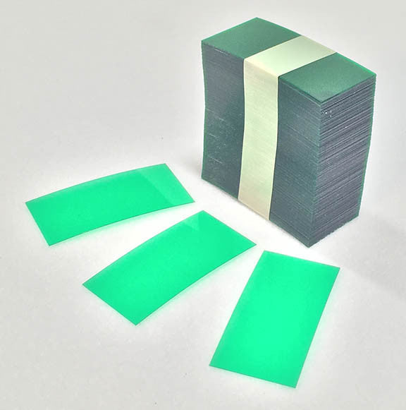 Plastic Shelf Strips - Transparent Green