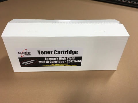Lexmark MS810 High Yield Toner Cartridge - 25K