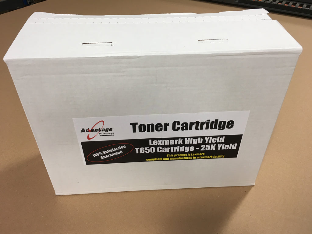 Lexmark T650 High Yield Toner Cartridge - 25K