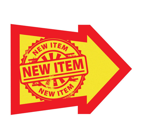 New Item Sign Arrow - Red/Yellow 50 pk