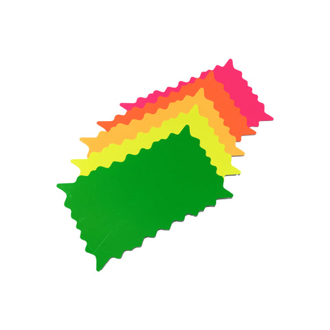 Fluorescent Rectangle Bursts - 3 Sizes Available