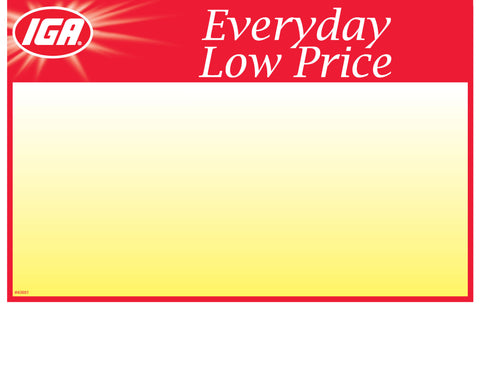IGA Everyday Low Price Shelf Sign - 1up