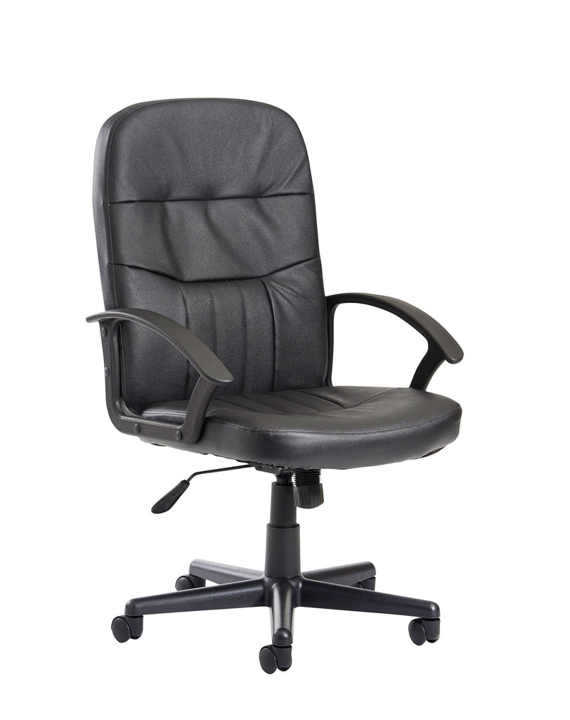 Cavalier Managers Chair | Black Leather