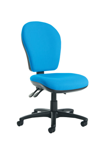 Lento High Back Operator Chair | Blue or Charcoal | Choice of Arms
