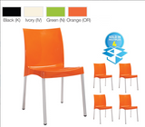 Orb Indoor Outdoor Seating | Ivory, Black, Green, Orange | Box of 4 Chairs
