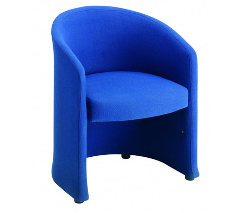 Slender Fabric Reception Seating | Blue or Charcoal | Single or Double