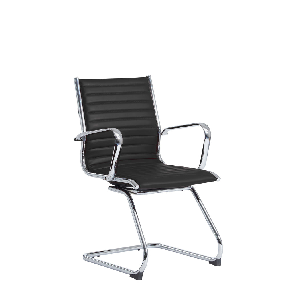 Bari Cantilever Leather Chair | Black or White