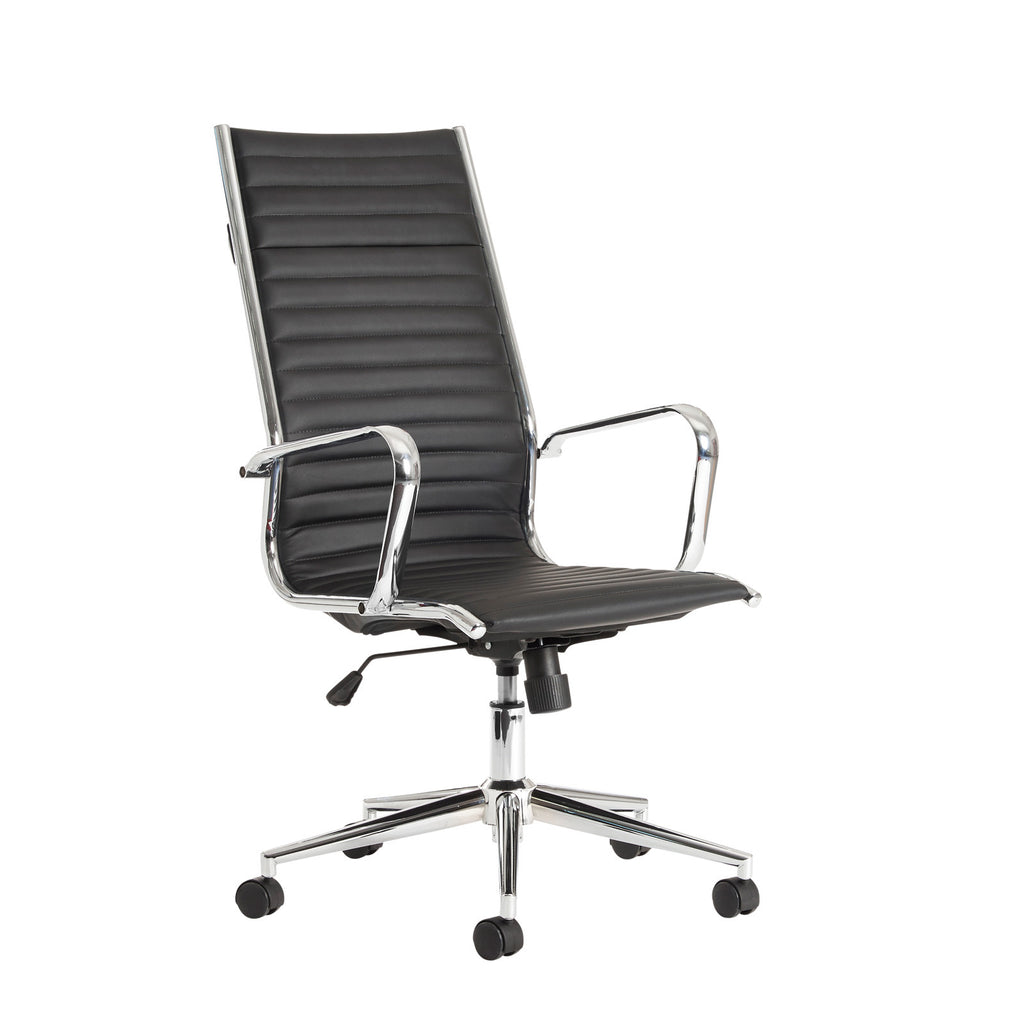 office leather chair. Bari Executive High Back Leather Chair | Black Or White Office
