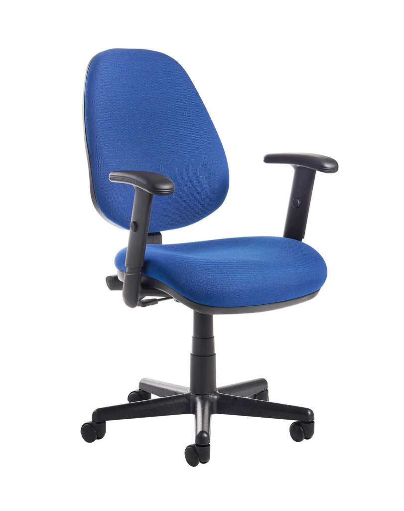 Bilbao Task and Operator Chair | Adjustable Arms | Blue or Charcoal