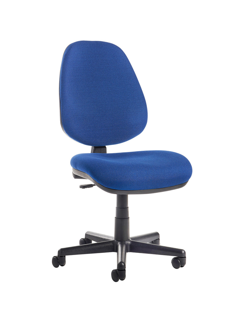 High Back Operator Chair | No Arms | Blue or Charcoal