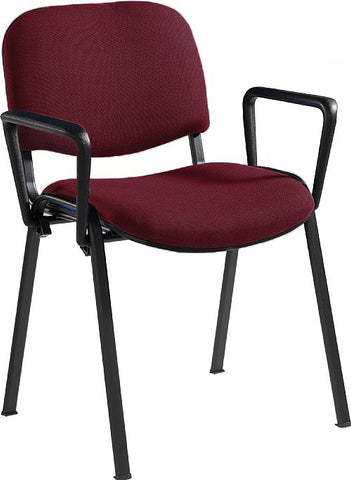 Taurus Fabric Black Frame With Arms | Variety of Colours | Box of 4 Chairs